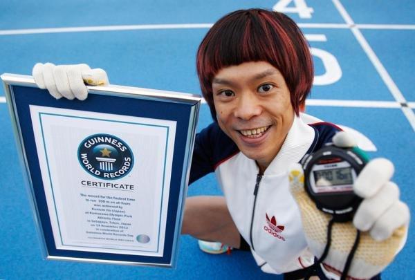 日本猴男四肢并用跑百米16秒87破世界纪录