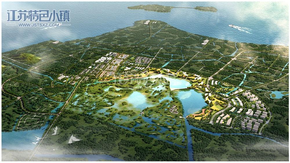 中国苏绣小镇鸟瞰图