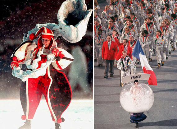 歷數史上最誇張的奧運會服裝(組圖)