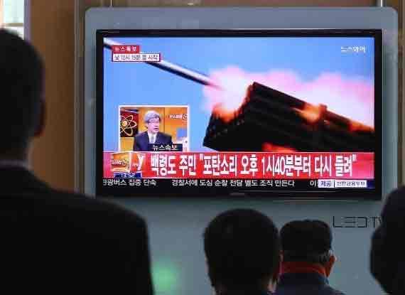 """朝鮮朝""""北方界線""""發射數十枚炮彈 韓方還擊"""