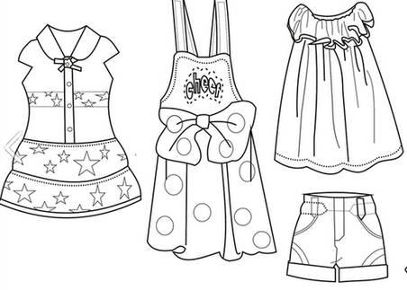 古裝服裝設計圖基本畫法展示