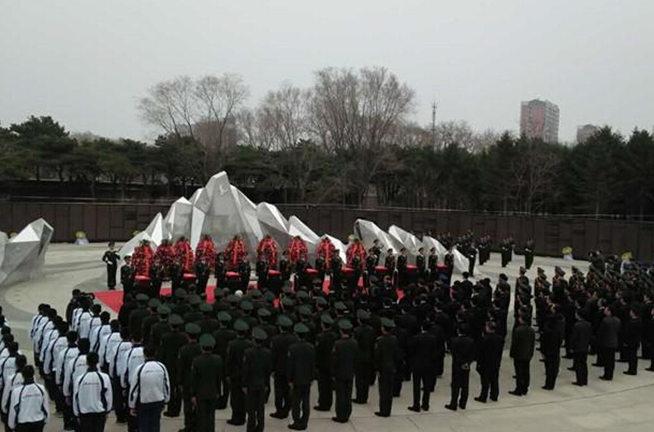第三批在韓志願軍烈士遺骸安葬沈陽