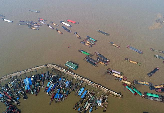 大風過後 洪澤湖恢復通航