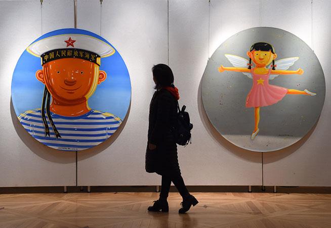 南京曉莊學院舉辦畫展慶祝建校90周年