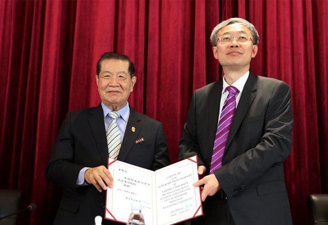 刑事鑒識專家李昌鈺受聘南京大學名譽教授
