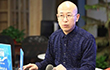 書法家仇高馳到新華網江蘇分公司訪談交流