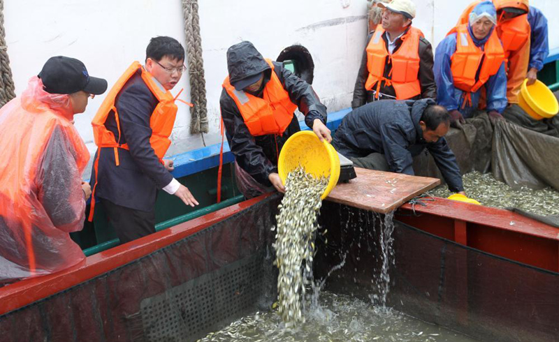 江蘇南通舉行今年首次海洋增殖放流