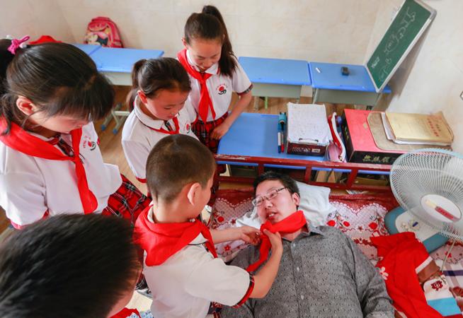 一名殘疾人的愛心教室
