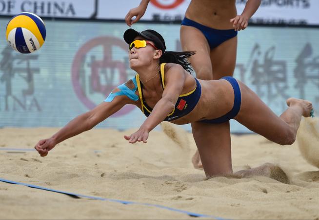 全國沙灘排球大滿貫湯山站女子淘汰賽:國家二隊勝新疆旺源