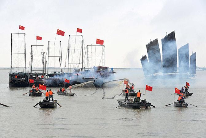 開捕啦!淮安市洪澤區舉行洪澤湖開捕儀式