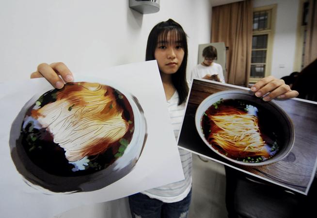 大学生手绘扬州美食走红 纸上美食挑起网友味蕾
