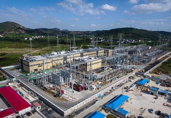 """江蘇蘇州500千伏""""統一潮流控制器""""示范工程進入電氣設備安裝調試階段"""