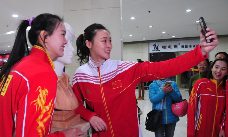 南京全民健身中心南京籍世界冠军雕塑群再添新成员