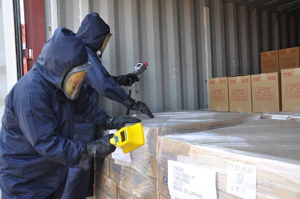 进口集装箱放射性超标 检验检疫部门快速处置