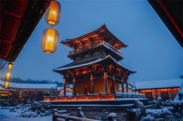 常州江南山镇遇大雪 粉妆玉砌美如画