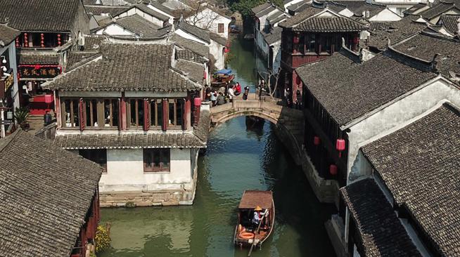 江苏周庄:日暖天晴游水乡