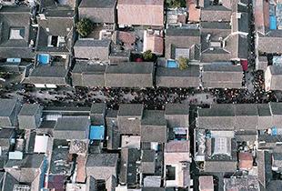 航拍明清模樣老街——揚州東關街