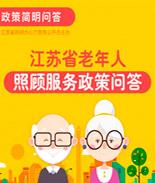 江蘇省老年人照顧服務政策問答