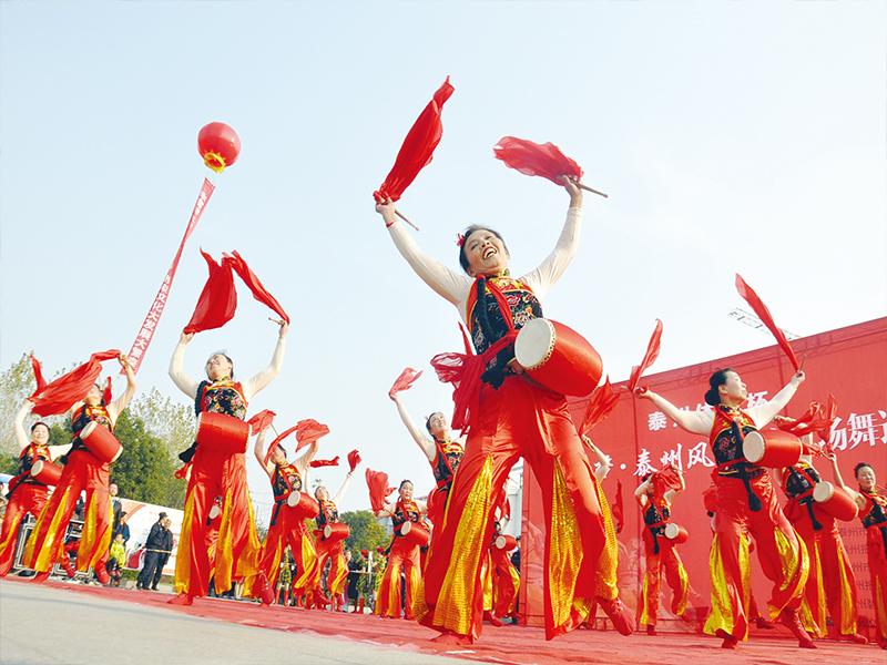 """""""中國夢·泰州風""""全市廣場舞巡演走進華港鎮"""