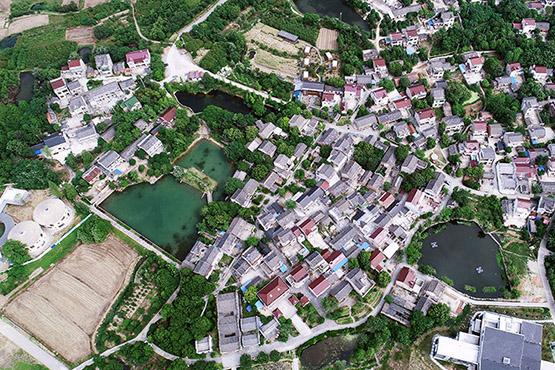航拍千年古村溧水石山下村 感受原生態的小山村