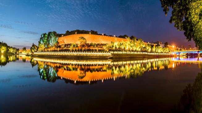南京外秦淮河夜景照明亮灯 完整呈现南京夜印象