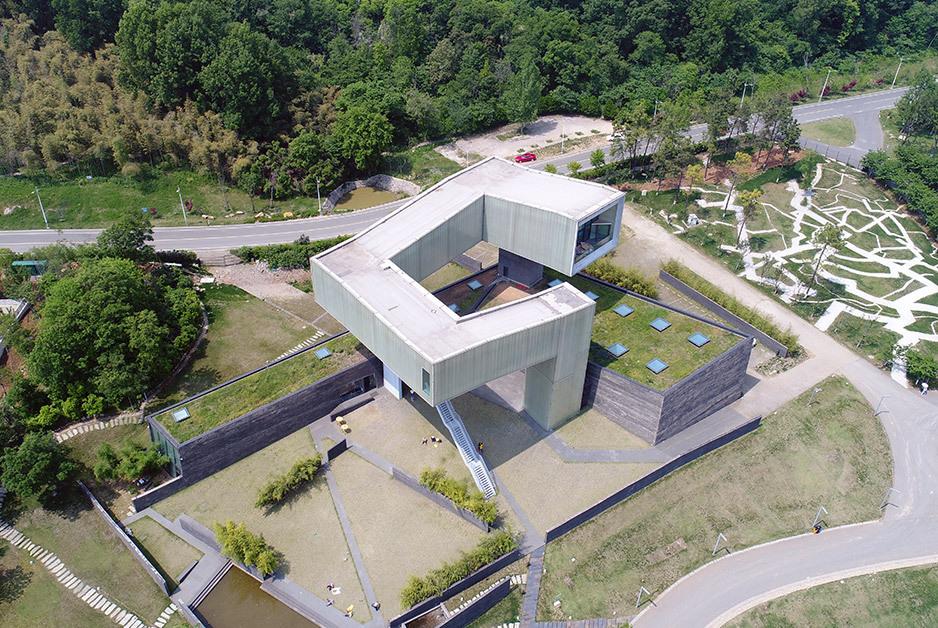 航拍南京四方美术馆 尽享几何艺术之美