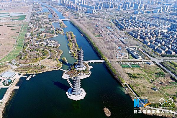 春色滿園 航拍宿遷黃河公園