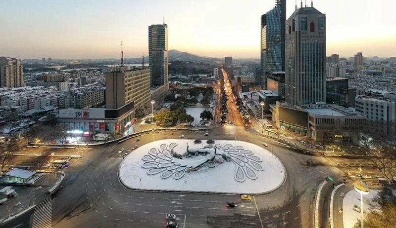 南京一夜雪無 為城市守護者點讚