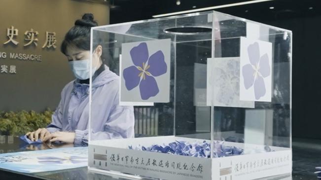 紫色追憶清明祭 百年銘記英雄魂