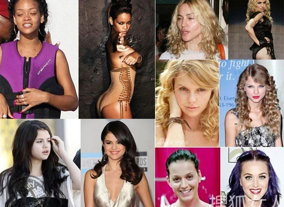 好莱坞女星素颜对比